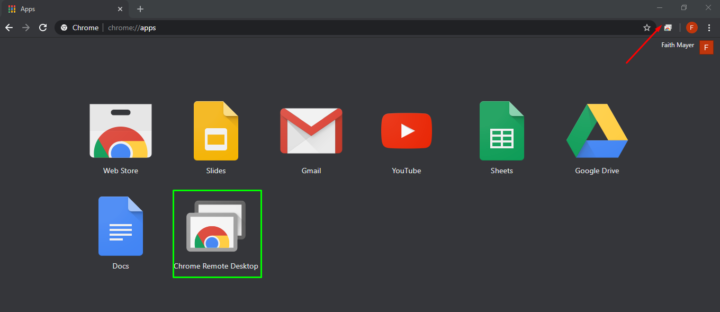 Install Chrome Remote Desktop extension